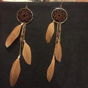 ☁️ New list! ☁️ Dreamcatcher feather earrings!